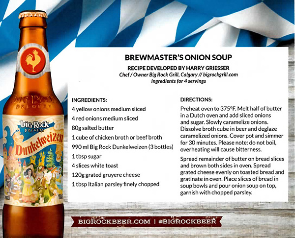 Brewmaster's Onion Soup Recipe by Big Rock Grill