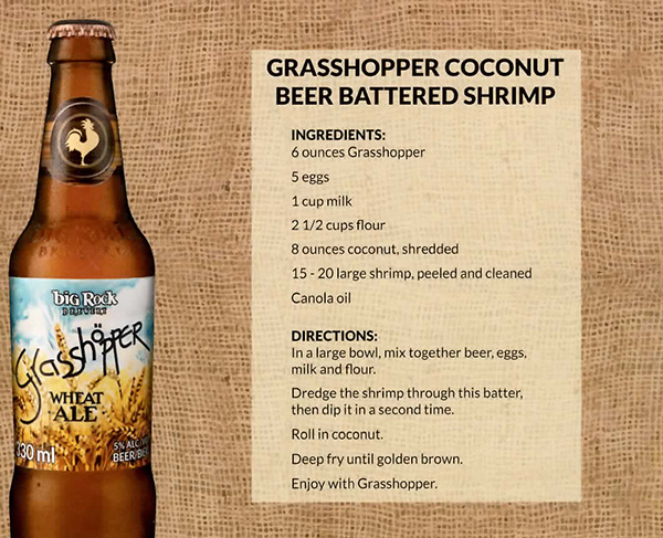 Coconut Beer Battered Shrimp